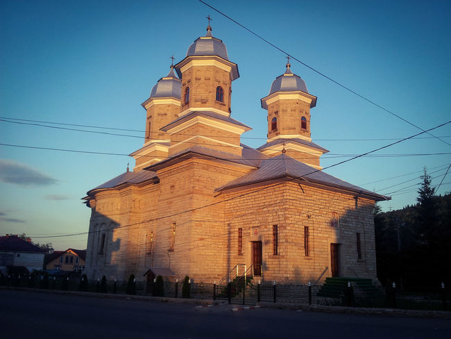 Taking Photos EyeEm EyeEm Best Shots EyeEm Gallery Take Me To Church Dawn Religion Dusk Architecture Arhitecture Photography History Built Structure Outdoors Illuminated Sunset Hello World First Eyeem Photo Romania First EyeEm Perfect Weather Made In Romania