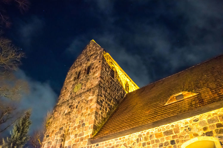 Church Ancient Civilization Architecture Blue Blue Sky Building Exterior Built Structure Cloud - Sky Go-west-photography.com History Illuminated Low Angle View Nature Night No People Outdoors Sky Star Stars