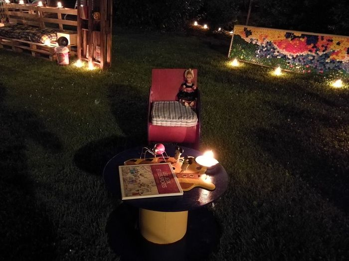 La coeur de la fête du village....... the night, when the sun comes down Night Celebration Illuminated Tradition Fete Feteduvillage Village Bougies Candle Night Objetsrecycles Recycled Materials Nuitauvillage