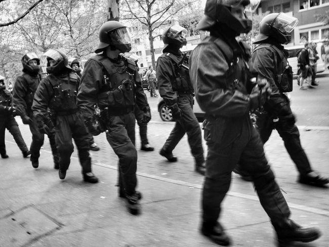 Blackandwhite ACAB Scary Riot Police Braindead Robots Demo B&W Portrait