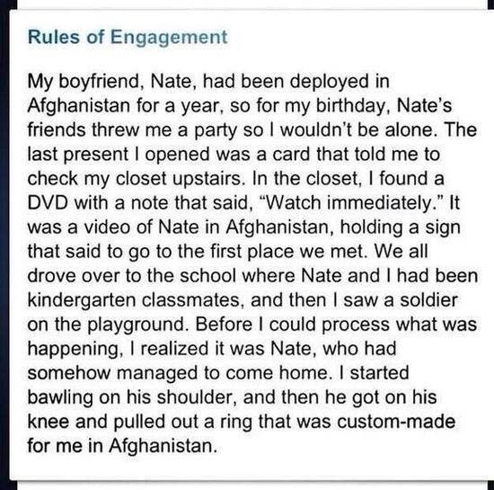 ❤️❤️❤️. Perfection Love Military Dream Proposal