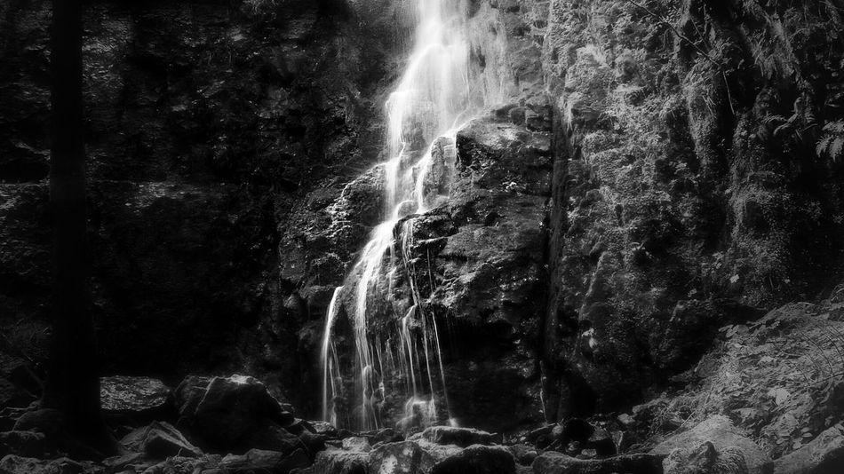 Burgbach-Wasserfall (bnw-edit) Light And Shadow Blackandwhite Monochrome Bw-collection