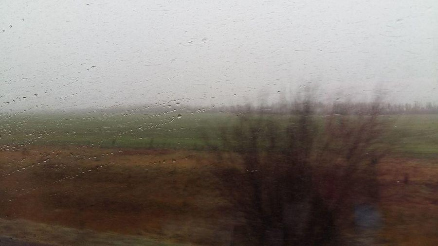 in train. Travel Train Trip Glass Window Window Backgrounds Wet Drop Indoors  No People Condensation Sky