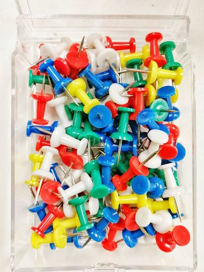Multi Colored Variation No People Large Group Of Objects Indoors  Close-up Day Pin Push Pins