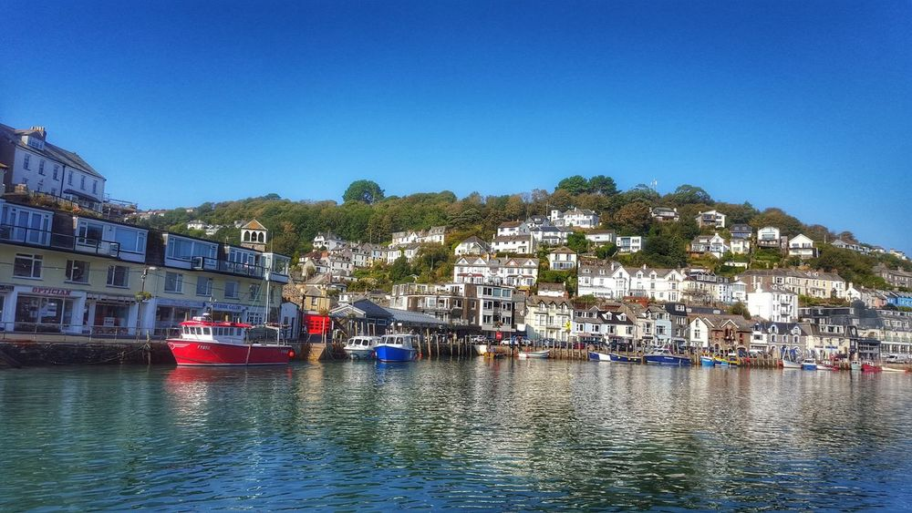 Looe, Cornwall Looe Cornwall Uk Cornwall Life Cornwall Tourism Cornwall, UK. Water Outdoors No People Day TOWNSCAPE Beauty In Nature Landscape_photography Landscape_Collection Landscape_lovers England, UK Clear Sky Nature Landscape Seascape Photography Boats And Water Bluesky Water Reflections Waterfront Waterfr
