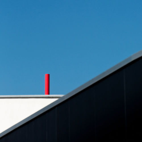 Abstract Abstract Photography Architecture Black Blue Built Structure Clear Clear Sky Close-up Copy Space Day Grafic Grey Low Angle View No People Outdoors Red White Color