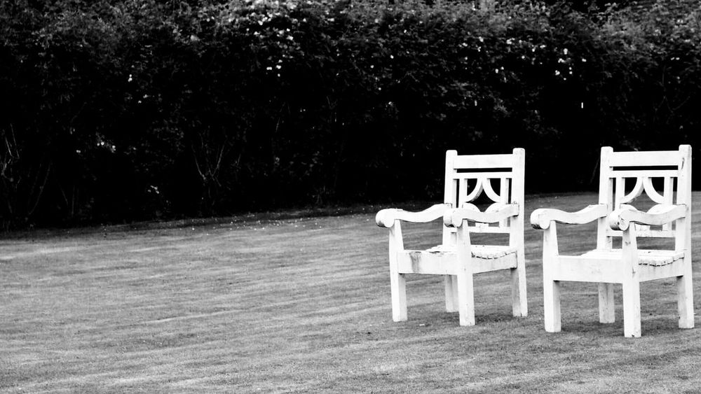 Outdoors Scotland Dundee Chairs Couple Goals Sit Down Stand Out From The Crowd Blackandwhite Blackandwhite Photography This Seats Taken Noir Garden Twins Empty Eary Black And White Friday