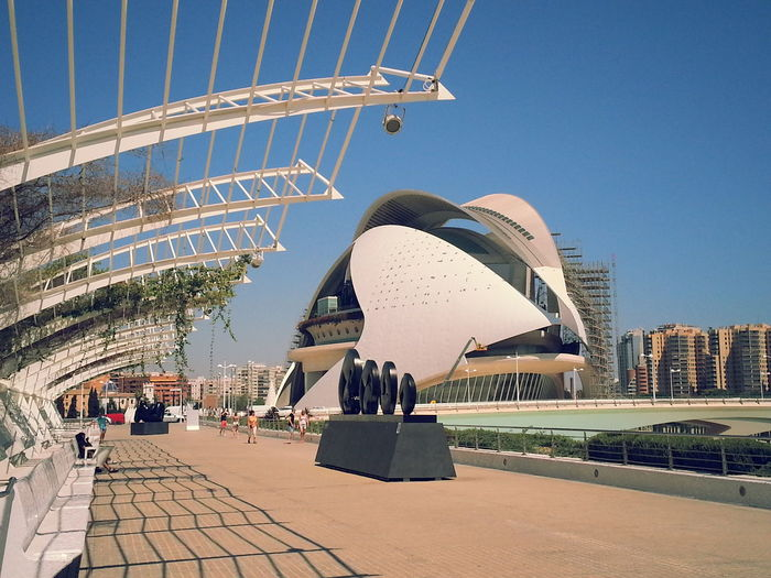 Valencia Architecture Building Exterior Built Structure City Clear Sky Day Large Group Of People Modern Outdoors People Real People Sky Travel Destinations