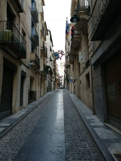 Street City Built Structure The Way Forward Residential Building No People Winter City Alcoy Tranquility Cold Day ColdMorning