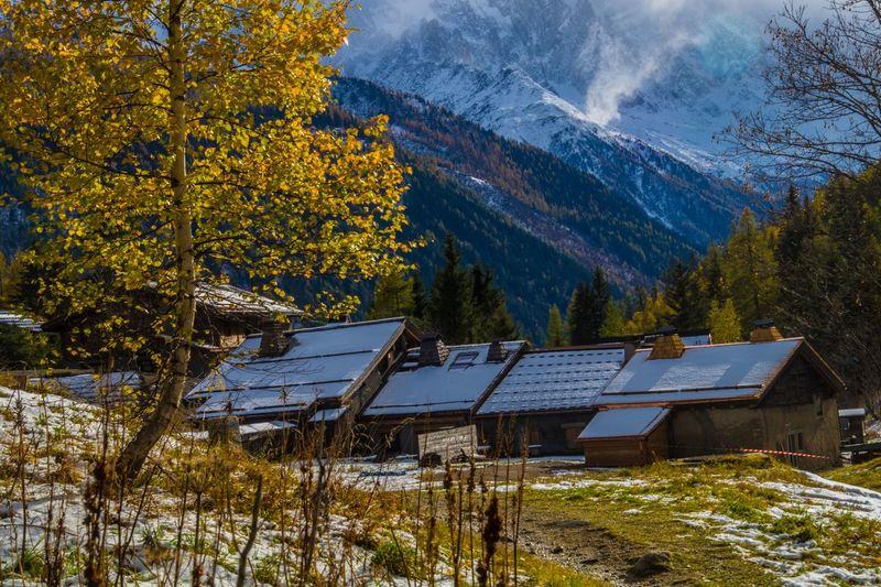 trelechamps,chamonix,haute savoie,france Renewable Energy Alternative Energy Tree Mountain Environment Environmental Conservation Solar Panel Fuel And Power Generation Solar Energy Nature Plant Architecture No People Beauty In Nature Built Structure Land Roof House Scenics - Nature Change Outdoors Sustainable Resources