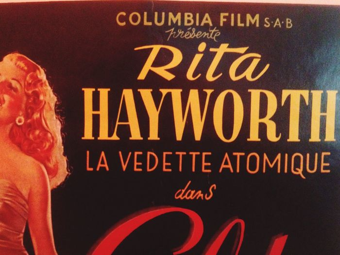 Rita Hayworth film poster Film Poster Film Wall Poster Cinema Cinematography EyeEmArt EyeemArtLover France Rita Hayworth