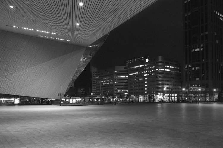 Centraal Station Rotterdam Ugo Villani Archineos Architecture Architecture B&n B&w Bianco E Nero Black And White Blanco Y Negro Centraal Station Rotterdam City Holland Monochrome Night Nightphotography Olanda Rotterdam Urban Urban Landscape