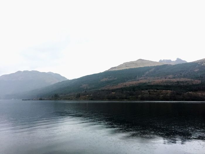 Beauty In Nature Beauty On My Doorstep Day Dull But Beautiful Growth Landscapes Loch  Mountain Range Nature Outdoors Reflection Trees VisitScotland Water
