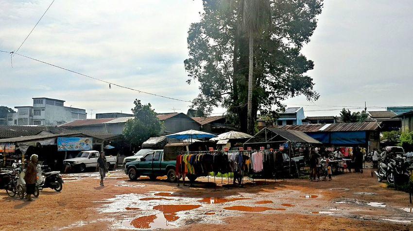 Pak Nam Lang Suan Village Chumphon Daily Market Day Marketplace Outdoors Pak Nam Lang Suan Thailand Village Life