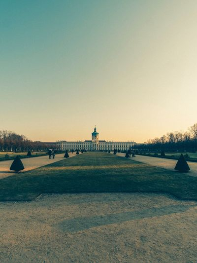 Berlin Schloss Charlottenburg Water Sky Sunset Outdoors Nature Clear Sky Beauty In Nature Architecture Day