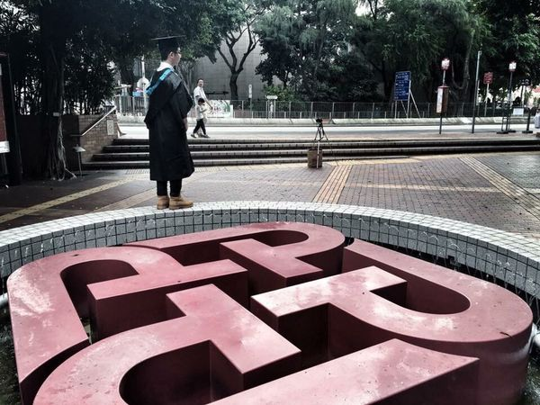 One Person Lonely Graduation Polytechnic University Of Hong Kong