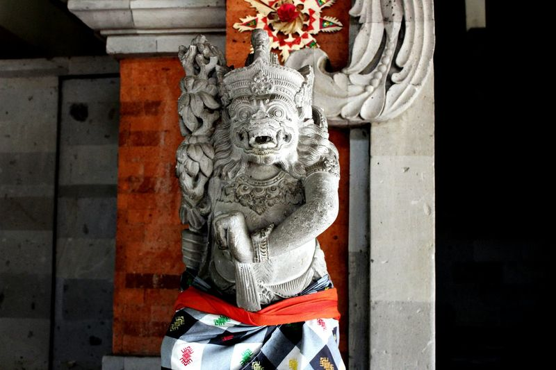 Balinese Guardian Statue Balinese Culture And Tradition Beautiful Indonesia EyeEm Selects EyeEmNewHere Art And Craft Human Representation Sculpture Statue Day No People Built Structure