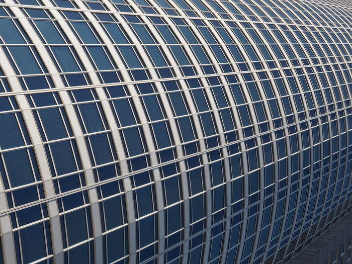 Architecture Backgrounds Close-up Day Frankfurt Full Frame Low Angle View Modern Architecture No People Office Building Outdoors Pattern Tubular