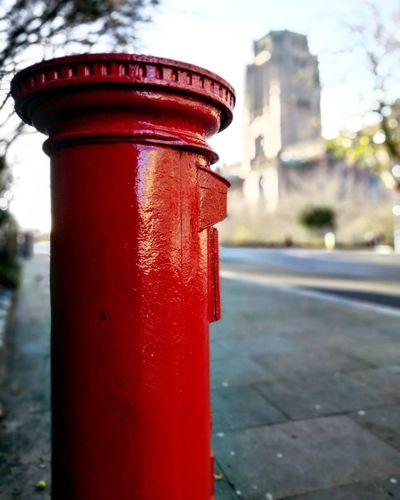 Don't focus on the obvious. Red City Building Exterior Architecture No People Postbox Liverpool, England Liverpoolstreet Liverpoolcathedral