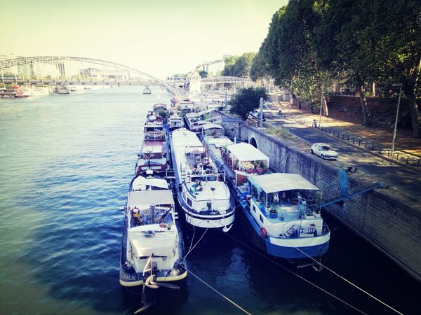 River Paris France At Quais De Seine Seine La Seine