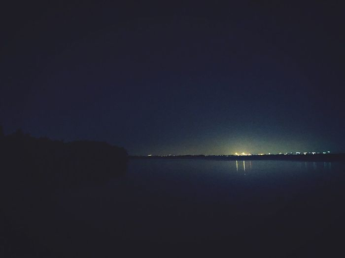 Night Nature Water Sea Tranquil Scene Outdoors Tranquility Scenics Beauty In Nature No People Illuminated Sky Beach