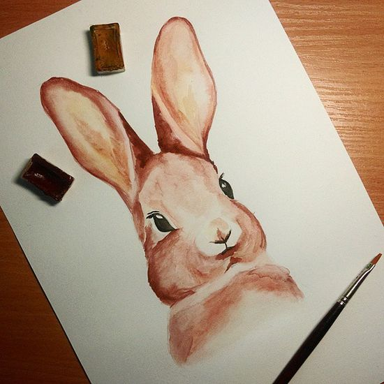 🐰🎨 Bunny  Watercolor Art Aquarelle Inspiration