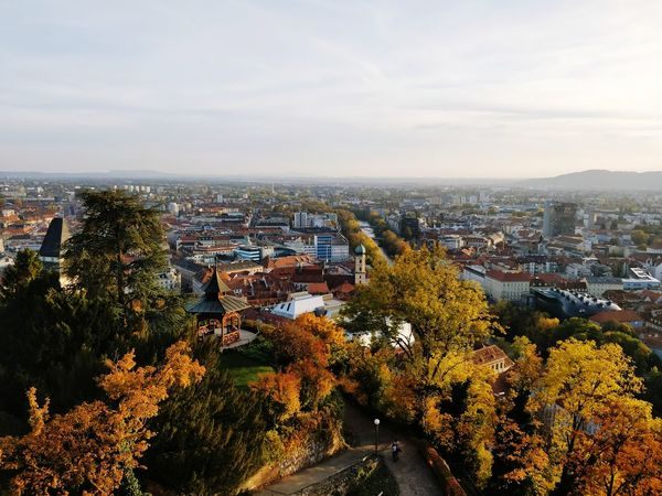 Unfortunately, too many of the views are obscured by trees Graz