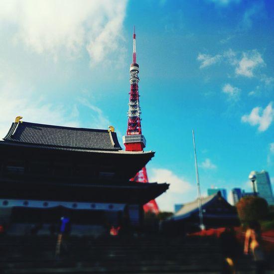 Sky Travel Destinations Tokyotower Temple Quiet Places