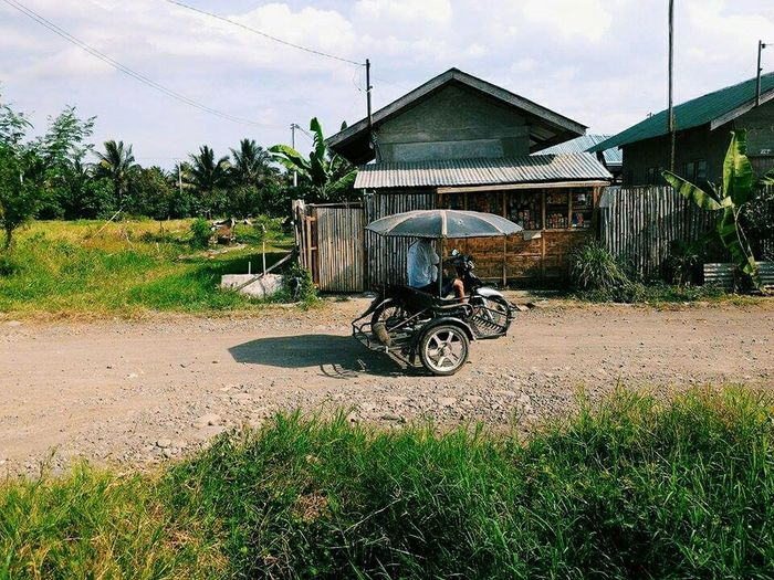 Lonely town. Philippines Mindanao Davao City Losamigos Tricycle Smalltown Quaint