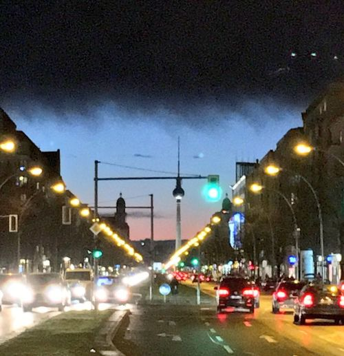 Last light on Möllendorffstraße My Berlin  Night Lights Evening Sky Threatening Sky Sunset Skyporn Berlin