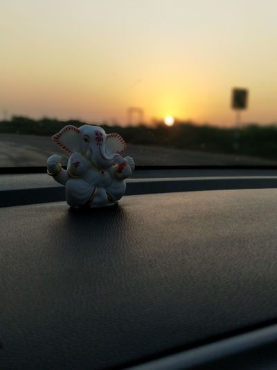 Ganesha Idols Car Dashboard