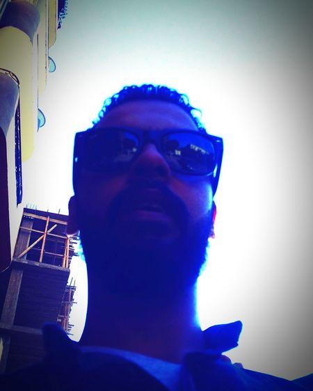 Sunglasses One Man Only Beard Sky Outdoors Portrait