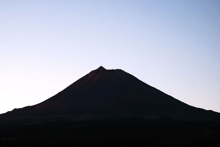 The Great Pico Mountain Sky No People Pyramid Architecture Clear Sky Tourism Nature Mountain Low Angle View Built Structure Travel Destinations Building Exterior Copy Space Beauty In Nature Silhouette Outdoors History Day Travel Scenics - Nature