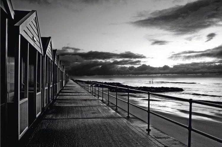 Black & White Beach Huts