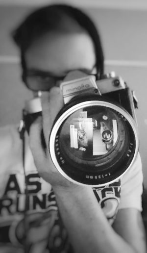 """""""Elements of the past and the future combined to make something not quite as good as either"""" Film Minolta Minoltasr7 Sixties Photography 135mm Selfie Thats Me! Hi! Blackandwhite"""