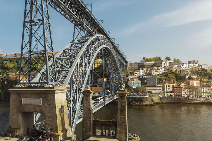Ponte Dom Luis I Porto Portugal Arch Arch Bridge Architecture Bridge Bridge - Man Made Structure Building Exterior Built Structure City Cityscape Connection Day Duro Engineering Metal Nature Outdoors Place River Sky Transportation Travel Destinations Water