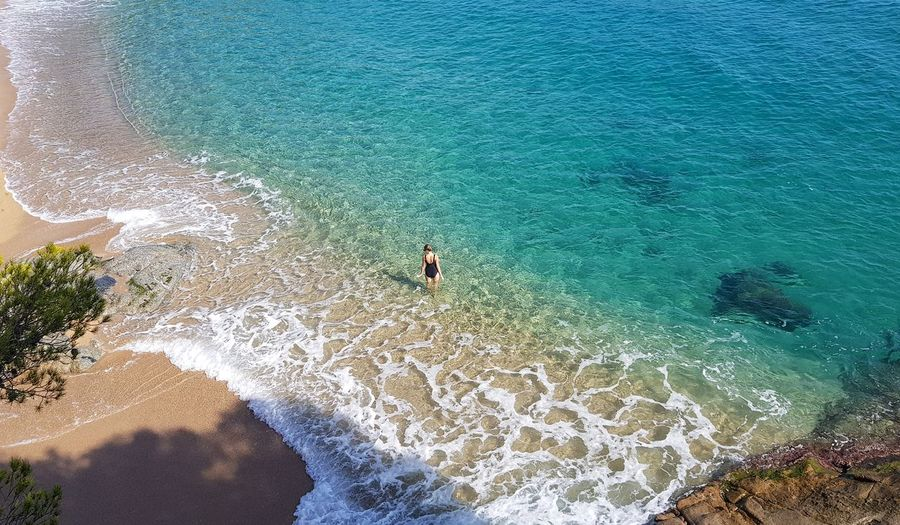 Beautiful beach cala sa conca in costa brava in spain