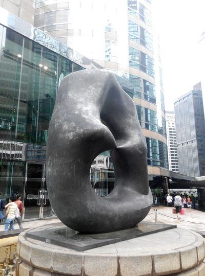 Henry Moore sculpture, central Hong Kong