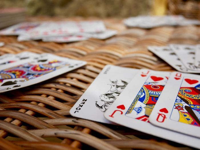 Gambling Table Luck No People Indoors  Variation Chance Close-up Large Group Of Objects Day Play Cards Rommé