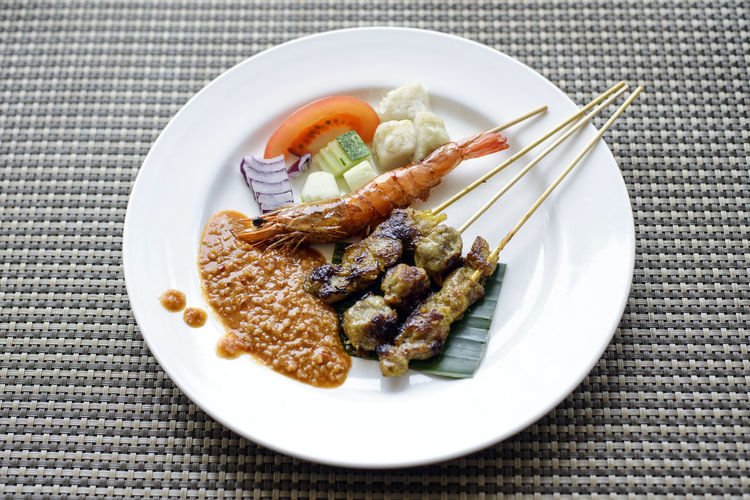 assorted satay Close-up Day Food Food And Drink Freshness Grilled Healthy Eating Indoors  No People Plate Ready-to-eat Satay Served Serving Size Table