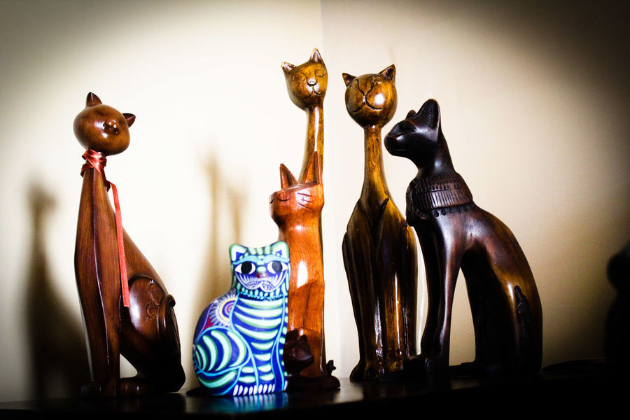 one is not like the others Cat Heredia, Costa Rica Barva Costa Rica Representing Leopard City Zebra Sculpture Figurine  Owl Disguise