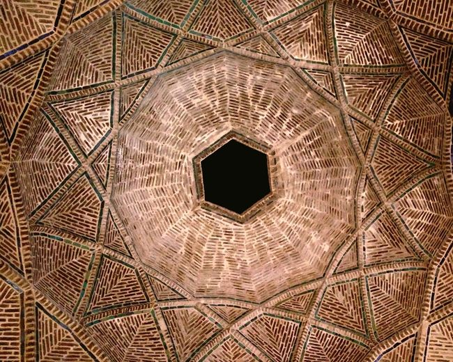 Roof History Historic Arak Iran Backgrounds Symmetry Pattern Close-up Sky Roof Tile Historic Building Rooftop Ancient Civilization The Past Hexagon Triangle Shape Shape