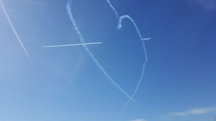 Blackpool Blue Sky Red Arrows Red Arrows Air Display Heart Heart And Arrow Jets Aeroplane Seaside
