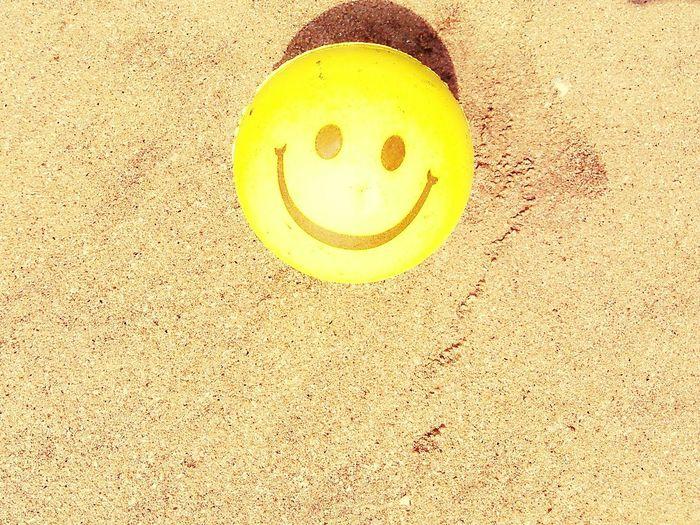 Smiley Face On Beach Smiley Face Ball Smiley Face 43 Golden Moments