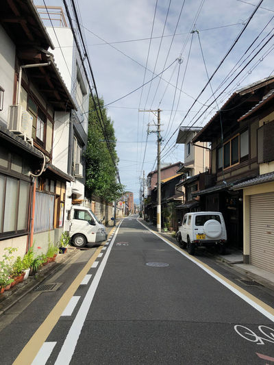 Walking the streets of Kyoto Building Exterior The Way Forward Diminishing Perspective Electricity  Car