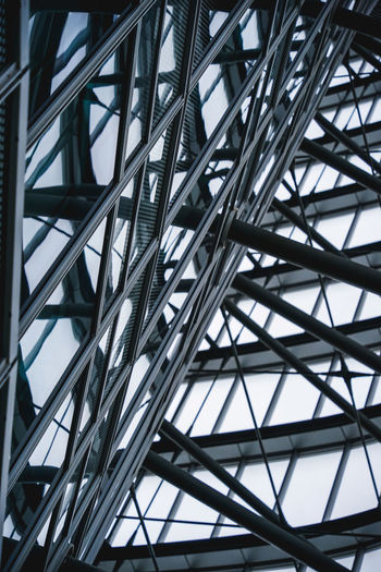 Low angle view of metallic structure