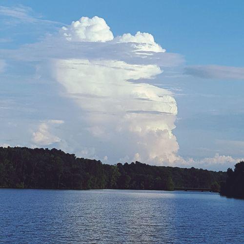 Beautiful Cloud Water Blue Lake Pinaceae Forest Sky