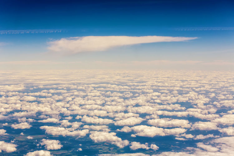 Aerial View Blue Cloud Cloud - Sky Cloudscape Cumulus Day Nature Outdoors Scenics Sky