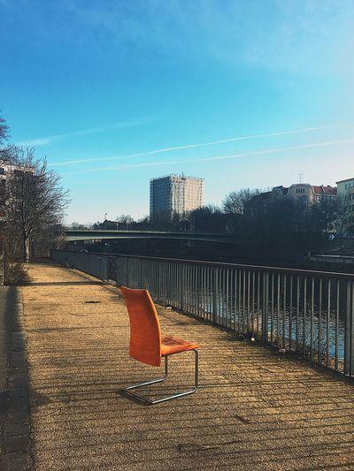 Chair Outdoors Sunlight Urban Day Berlin Berliner Ansichten Walk Urban Exploration Adapted To The City