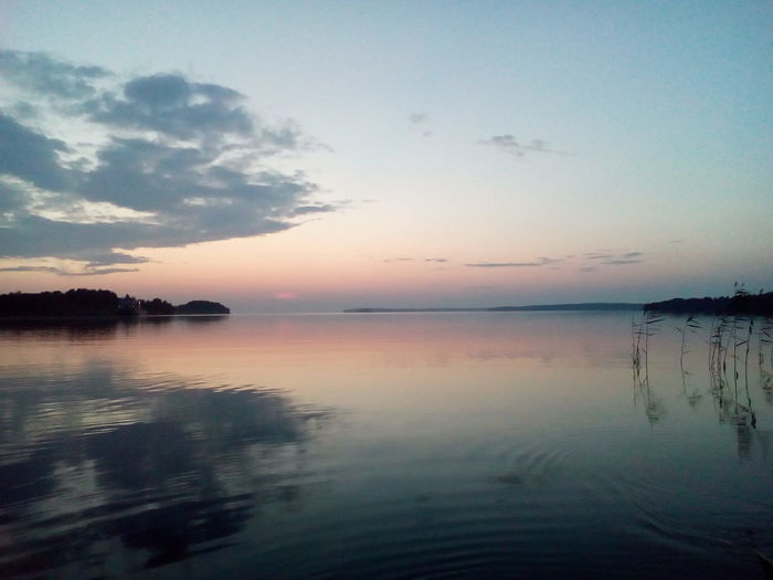 Закат на Онежском озере Onegalake Relaxing Fishing Village Sanset